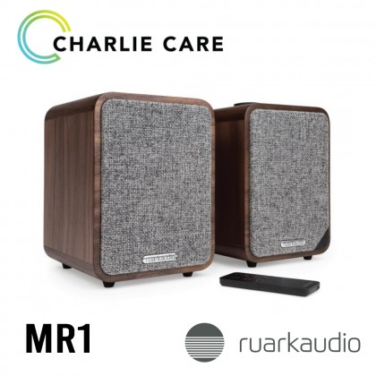 RUARK AUDIO MR1 Mk2 BLUETOOTH SPEAKER SYSTEM (RICH WALNUT VENEER)